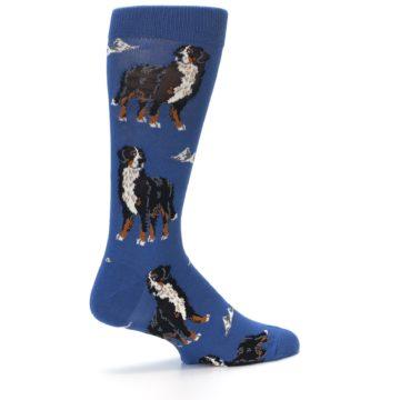 Image of Blue Bernese Dog Men's Dress Socks (side-1-23)