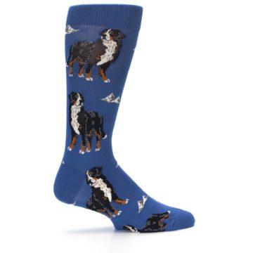 Image of Blue Bernese Dog Men's Dress Socks (side-1-24)
