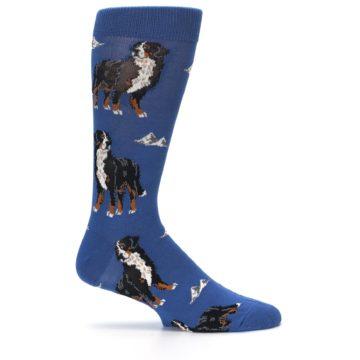 Image of Blue Bernese Dog Men's Dress Socks (side-1-25)