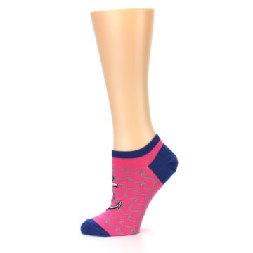 Image of Pink Navy Anchor Women's Ankle Socks (side-2-11)