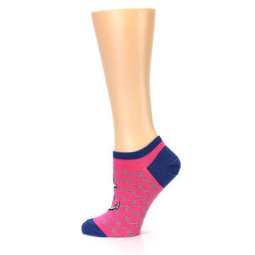 Image of Pink Navy Anchor Women's Ankle Socks (side-2-12)