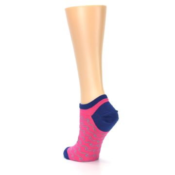 Image of Pink Navy Anchor Women's Ankle Socks (side-2-back-15)