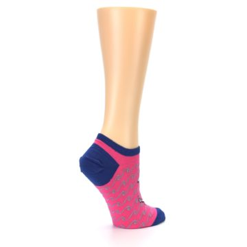 Image of Pink Navy Anchor Women's Ankle Socks (side-1-23)