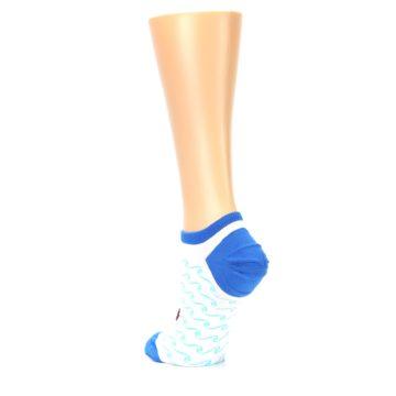 Image of White Blue Red Anchor Women's Ankle Socks (side-2-back-15)
