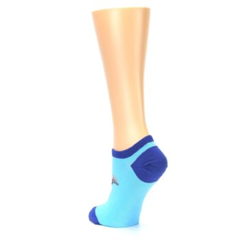 Image of Light Blue Dolphin Women's Ankle Socks (side-2-back-15)