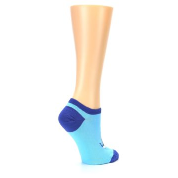 Image of Light Blue Dolphin Women's Ankle Socks (side-1-23)