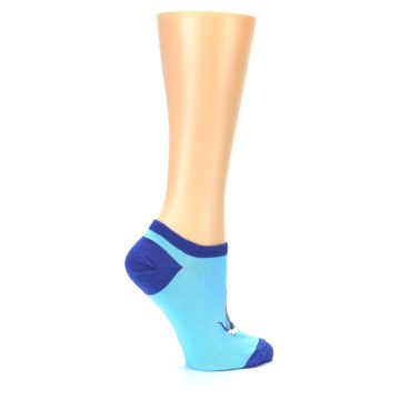 Image of Light Blue Dolphin Women's Ankle Socks (side-1-24)