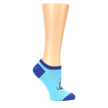 Image of Light Blue Dolphin Women's Ankle Socks (side-1-25)