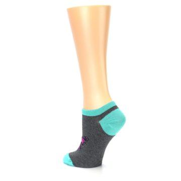 Image of Charcoal Purple Butterfly Women's Ankle Socks (side-2-back-14)