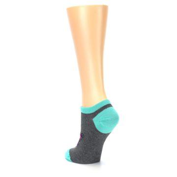 Image of Charcoal Purple Butterfly Women's Ankle Socks (side-2-back-15)