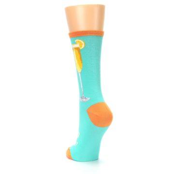 Image of Aqua Mimosa Cocktail Women's Dress Socks (side-2-back-16)