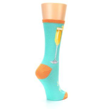 Image of Aqua Mimosa Cocktail Women's Dress Socks (side-1-back-22)