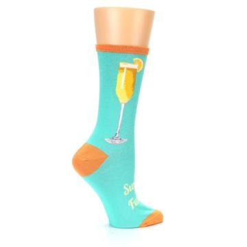 Image of Aqua Mimosa Cocktail Women's Dress Socks (side-1-24)