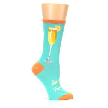 Image of Aqua Mimosa Cocktail Women's Dress Socks (side-1-25)