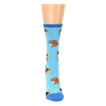 Image of Blue Cats In a Box Women's Dress Socks (front-04)