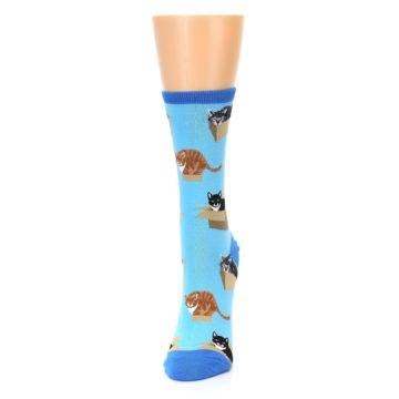 Image of Blue Cats In a Box Women's Dress Socks (side-2-front-06)