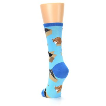 Image of Blue Cats In a Box Women's Dress Socks (side-2-back-16)