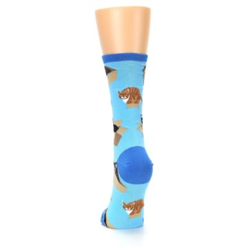 Image of Blue Cats In a Box Women's Dress Socks (back-17)