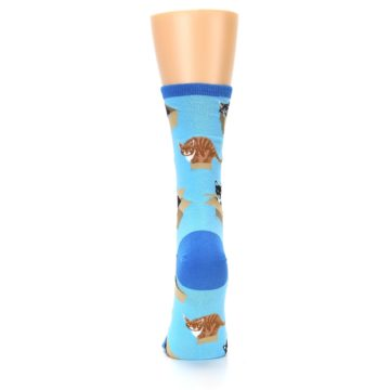 Image of Blue Cats In a Box Women's Dress Socks (back-18)