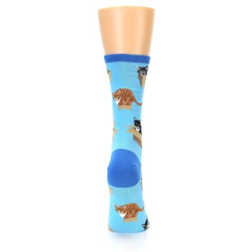 Image of Blue Cats In a Box Women's Dress Socks (back-19)
