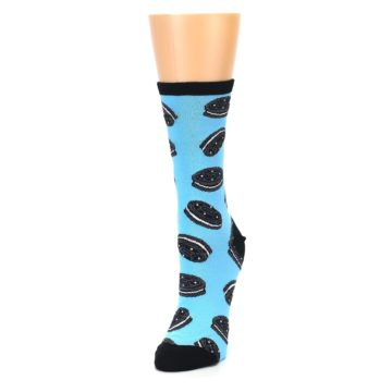 Image of Blue Cookies and Cream Women's Dress Socks (side-2-front-07)