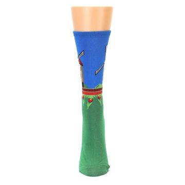 Image of Green Blue Dutch Windmill Women's Dress Socks (front-05)