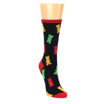 Image of Black Gummy Bears Women's Dress Socks (side-1-front-02)
