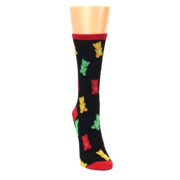 Image of Black Gummy Bears Women's Dress Socks (side-1-front-03)