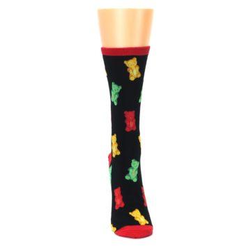 Image of Black Gummy Bears Women's Dress Socks (front-04)