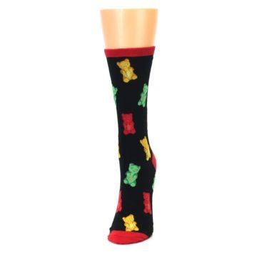 Image of Black Gummy Bears Women's Dress Socks (side-2-front-06)