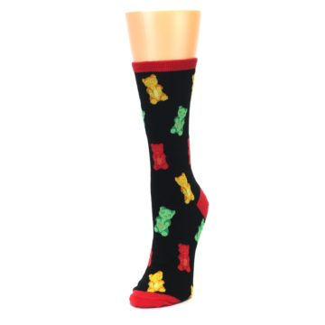 Image of Black Gummy Bears Women's Dress Socks (side-2-front-07)