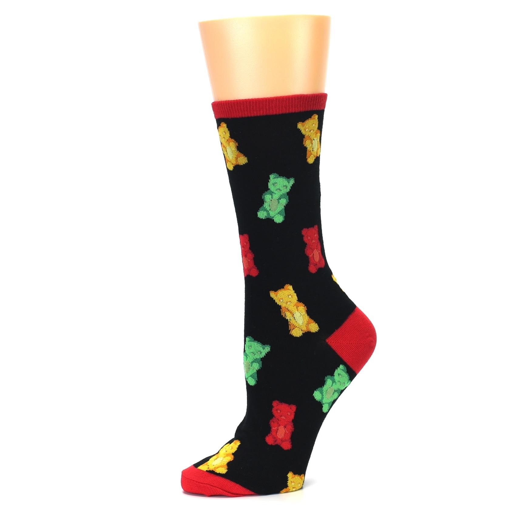 21a173fd3c58 Image of Black Gummy Bears Women's Dress Socks (side-2-10)