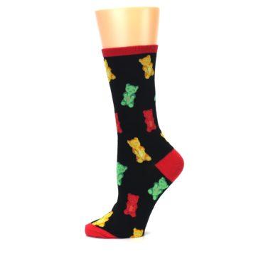 Image of Black Gummy Bears Women's Dress Socks (side-2-11)