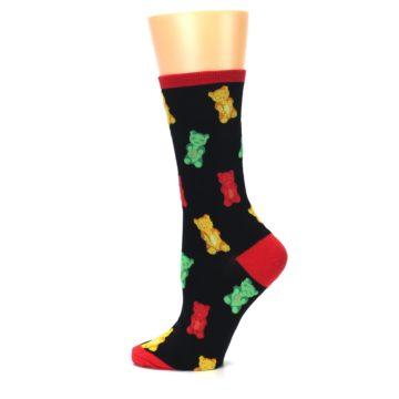 Image of Black Gummy Bears Women's Dress Socks (side-2-12)