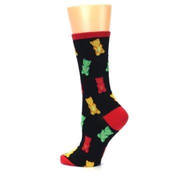 Image of Black Gummy Bears Women's Dress Socks (side-2-13)