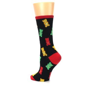Image of Black Gummy Bears Women's Dress Socks (side-2-back-14)