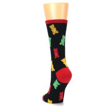 Image of Black Gummy Bears Women's Dress Socks (side-2-back-16)