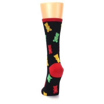 Image of Black Gummy Bears Women's Dress Socks (back-17)