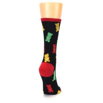 Image of Black Gummy Bears Women's Dress Socks (side-1-back-20)