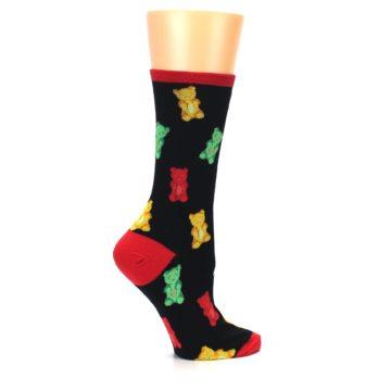 Image of Black Gummy Bears Women's Dress Socks (side-1-24)