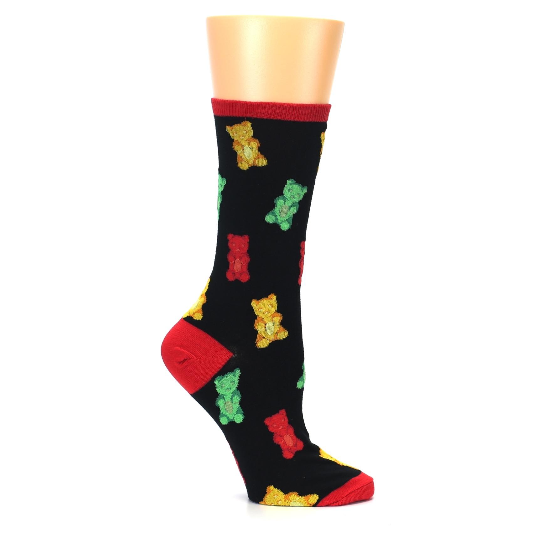 a719f6987889 Image of Black Gummy Bears Women's Dress Socks (side-1-25)
