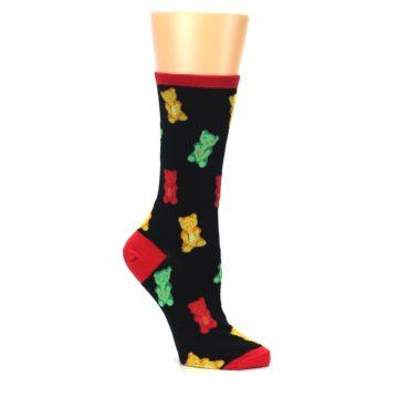 Image of Black Gummy Bears Women's Dress Socks (side-1-26)