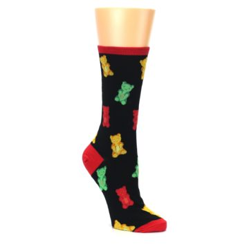 Image of Black Gummy Bears Women's Dress Socks (side-1-27)