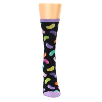 Image of Black Jelly Beans Candy Women's Dress Socks (front-04)