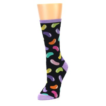 Image of Black Jelly Beans Candy Women's Dress Socks (side-2-front-08)