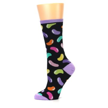 Image of Black Jelly Beans Candy Women's Dress Socks (side-2-11)