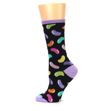 Image of Black Jelly Beans Candy Women's Dress Socks (side-2-12)