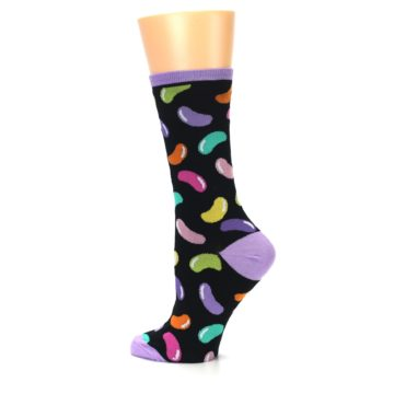 Image of Black Jelly Beans Candy Women's Dress Socks (side-2-13)