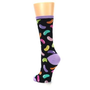 Image of Black Jelly Beans Candy Women's Dress Socks (side-2-back-15)
