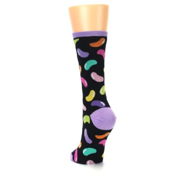 Image of Black Jelly Beans Candy Women's Dress Socks (side-2-back-16)